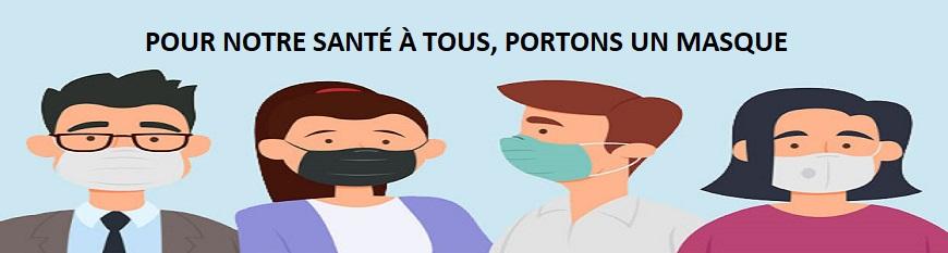 Port du masque ou du couvre visage dans une clinique médicale